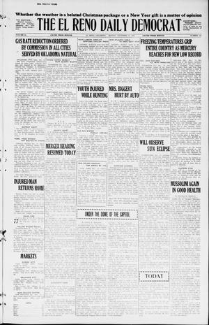 Primary view of object titled 'The El Reno Daily Democrat (El Reno, Okla.), Vol. 34, No. 300, Ed. 1 Monday, December 28, 1925'.