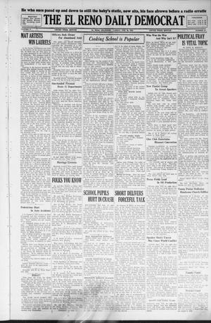 Primary view of object titled 'The El Reno Daily Democrat (El Reno, Okla.), Vol. 37, No. 27, Ed. 1 Tuesday, February 28, 1928'.