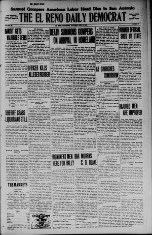 Primary view of object titled 'The El Reno Daily Democrat (El Reno, Okla.), Vol. 34, No. 81, Ed. 1 Saturday, December 13, 1924'.