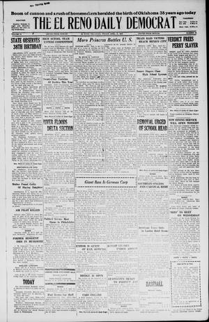 Primary view of object titled 'The El Reno Daily Democrat (El Reno, Okla.), Vol. 36, No. 79, Ed. 1 Friday, April 22, 1927'.