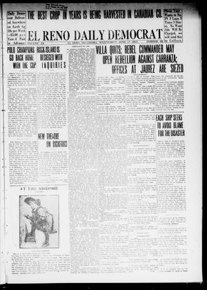Primary view of object titled 'El Reno Daily Democrat (El Reno, Okla.), Vol. 24, No. 92, Ed. 1 Wednesday, June 17, 1914'.