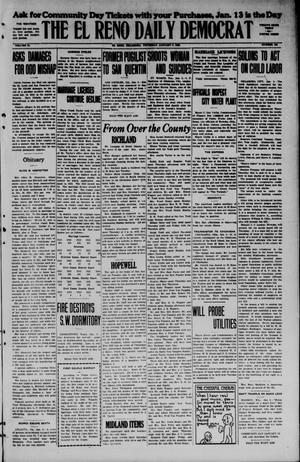 Primary view of object titled 'The El Reno Daily Democrat (El Reno, Okla.), Vol. 34, No. [102], Ed. 1 Thursday, January 8, 1925'.