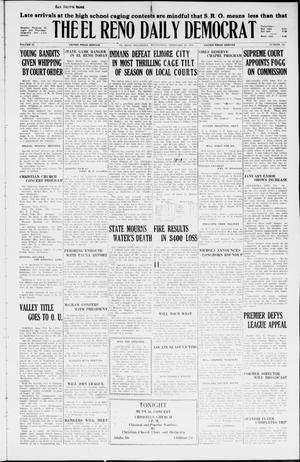 Primary view of object titled 'The El Reno Daily Democrat (El Reno, Okla.), Vol. 34, No. 337, Ed. 1 Wednesday, February 10, 1926'.