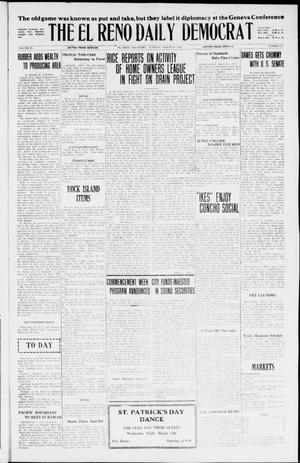 Primary view of object titled 'The El Reno Daily Democrat (El Reno, Okla.), Vol. 35, No. 54, Ed. 1 Tuesday, March 16, 1926'.