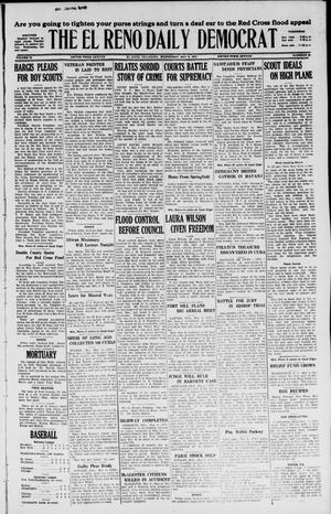 Primary view of object titled 'The El Reno Daily Democrat (El Reno, Okla.), Vol. 36, No. 89, Ed. 1 Wednesday, May 4, 1927'.