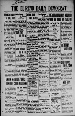 Primary view of object titled 'The El Reno Daily Democrat (El Reno, Okla.), Vol. 34, No. 19, Ed. 1 Wednesday, October 1, 1924'.