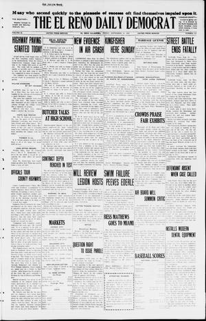 Primary view of object titled 'The El Reno Daily Democrat (El Reno, Okla.), Vol. 34, No. 215, Ed. 1 Friday, September 18, 1925'.