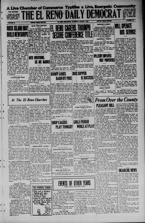Primary view of object titled 'The El Reno Daily Democrat (El Reno, Okla.), Vol. 34, No. 151, Ed. 1 Saturday, March 7, 1925'.