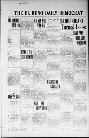 Primary view of object titled 'The El Reno Daily Democrat (El Reno, Okla.), Vol. 32, No. 271, Ed. 1 Wednesday, July 18, 1923'.