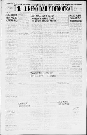 Primary view of object titled 'The El Reno Daily Democrat (El Reno, Okla.), Vol. 34, No. [345], Ed. 1 Friday, February 19, 1926'.