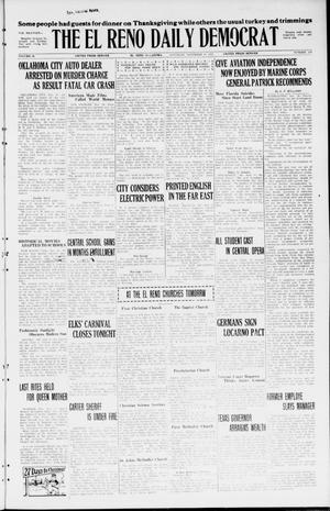 Primary view of The El Reno Daily Democrat (El Reno, Okla.), Vol. 34, No. 276, Ed. 1 Saturday, November 28, 1925