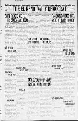 Primary view of object titled 'The El Reno Daily Democrat (El Reno, Okla.), Vol. 34, No. 172, Ed. 1 Thursday, July 30, 1925'.