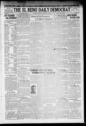Primary view of object titled 'The El Reno Daily Democrat (El Reno, Okla.), Vol. 38, No. 131, Ed. 1 Thursday, July 4, 1929'.