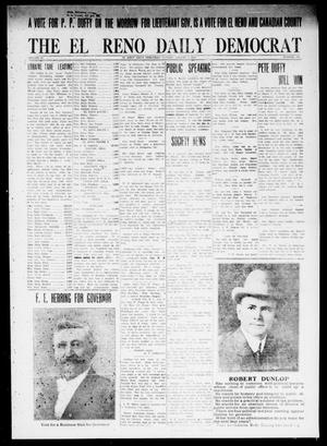 Primary view of object titled 'The El Reno Daily Democrat (El Reno, Okla.), Vol. 24, No. 137, Ed. 1 Monday, August 3, 1914'.