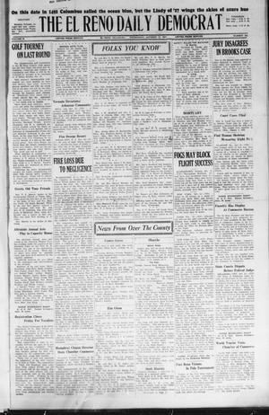 Primary view of object titled 'The El Reno Daily Democrat (El Reno, Okla.), Vol. 36, No. 222, Ed. 1 Wednesday, October 12, 1927'.