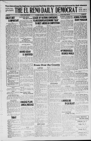 Primary view of object titled 'The El Reno Daily Democrat (El Reno, Okla.), Vol. 35, No. 258, Ed. 1 Monday, November 15, 1926'.