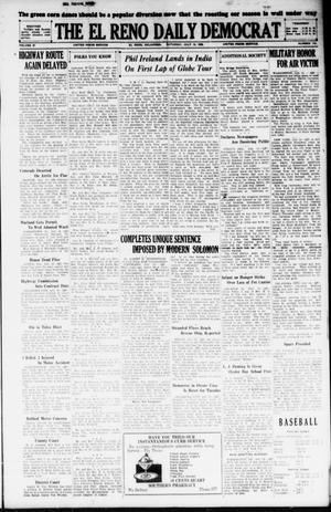 Primary view of object titled 'The El Reno Daily Democrat (El Reno, Okla.), Vol. 37, No. 143, Ed. 1 Saturday, July 14, 1928'.