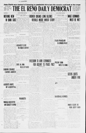 Primary view of object titled 'The El Reno Daily Democrat (El Reno, Okla.), Vol. 34, No. 183, Ed. 1 Wednesday, August 12, 1925'.