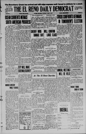 Primary view of object titled 'The El Reno Daily Democrat (El Reno, Okla.), Vol. 34, No. 193, Ed. 1 Saturday, April 25, 1925'.