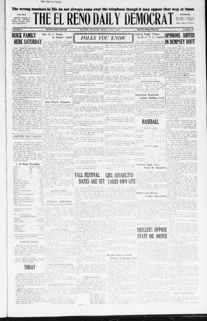 Primary view of object titled 'The El Reno Daily Democrat (El Reno, Okla.), Vol. 36, No. 153, Ed. 1 Friday, July 22, 1927'.