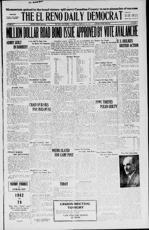 Primary view of object titled 'The El Reno Daily Democrat (El Reno, Okla.), Vol. 36, No. 30, Ed. 1 Thursday, February 24, 1927'.