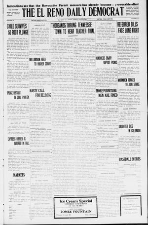 Primary view of object titled 'The El Reno Daily Democrat (El Reno, Okla.), Vol. 34, No. 155, Ed. 1 Friday, July 10, 1925'.