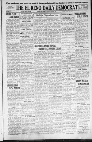 Primary view of The El Reno Daily Democrat (El Reno, Okla.), Vol. 37, No. 74, Ed. 1 Monday, April 23, 1928