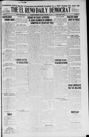 Primary view of The El Reno Daily Democrat (El Reno, Okla.), Vol. 35, No. 295, Ed. 1 Thursday, December 30, 1926