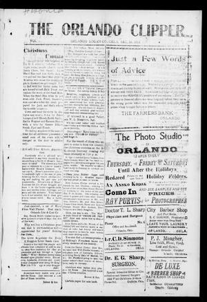 Primary view of object titled 'The Orlando Clipper (Orlando, Okla.), Vol. 9, No. 2, Ed. 1 Friday, December 18, 1914'.