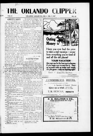Primary view of object titled 'The Orlando Clipper (Orlando, Okla.), Vol. 11, No. 10, Ed. 1 Friday, February 9, 1917'.