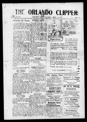 Primary view of object titled 'The Orlando Clipper (Orlando, Okla.), Vol. 10, No. 13, Ed. 1 Friday, March 3, 1916'.