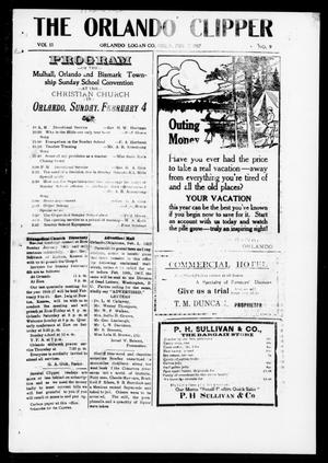 Primary view of object titled 'The Orlando Clipper (Orlando, Okla.), Vol. 11, No. 9, Ed. 1 Friday, February 2, 1917'.