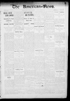 Primary view of object titled 'The American--News. (El Reno, Okla.), Vol. 9, No. 43, Ed. 1 Thursday, January 21, 1904'.