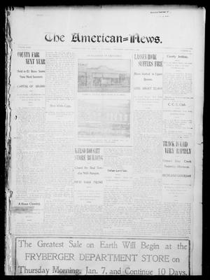 Primary view of object titled 'The American--News. (El Reno, Okla.), Vol. 9, No. 41, Ed. 1 Thursday, January 7, 1904'.