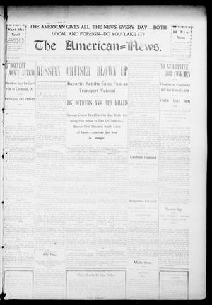 Primary view of object titled 'The American--News. (El Reno, Okla.), Vol. 9, No. 47, Ed. 1 Thursday, February 18, 1904'.