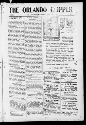 Primary view of object titled 'The Orlando Clipper (Orlando, Okla.), Vol. 10, No. 8, Ed. 1 Friday, January 28, 1916'.