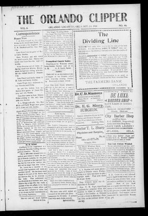 Primary view of object titled 'The Orlando Clipper (Orlando, Okla.), Vol. 8, No. 46, Ed. 1 Friday, October 23, 1914'.