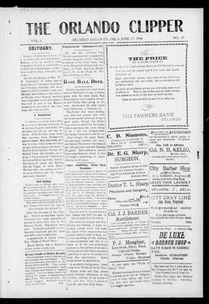 Primary view of object titled 'The Orlando Clipper (Orlando, Okla.), Vol. 8, No. 29, Ed. 1 Friday, June 19, 1914'.