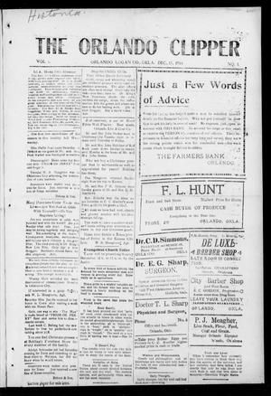 Primary view of object titled 'The Orlando Clipper (Orlando, Okla.), Vol. 9, No. 1, Ed. 1 Friday, December 11, 1914'.