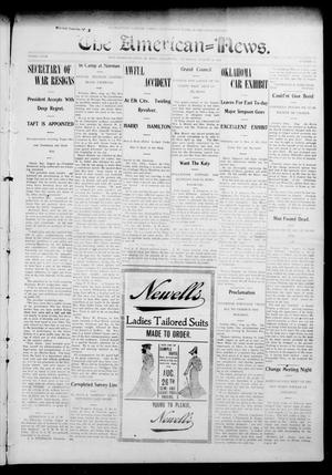 Primary view of object titled 'The American--News. (El Reno, Okla.), Vol. 9, No. 22, Ed. 1 Thursday, August 27, 1903'.