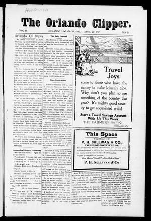 Primary view of object titled 'The Orlando Clipper (Orlando, Okla.), Vol. 11, No. 21, Ed. 1 Friday, April 27, 1917'.