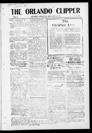 Primary view of object titled 'The Orlando Clipper (Orlando, Okla.), Vol. 8, No. 47, Ed. 1 Friday, October 30, 1914'.