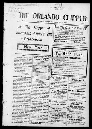 Primary view of object titled 'The Orlando Clipper (Orlando, Okla.), Vol. 7, No. 6, Ed. 1 Friday, January 3, 1913'.