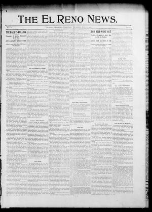 Primary view of object titled 'The El Reno News. (El Reno, Okla. Terr.), Vol. 6, No. 15, Ed. 1 Thursday, July 11, 1901'.