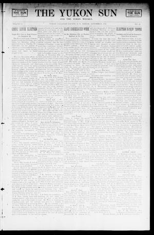 Primary view of object titled 'The Yukon Sun And The Yukon Weekly. (Yukon, Okla. Terr.), Vol. 9, No. 43, Ed. 1 Friday, October 25, 1901'.