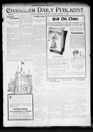 Primary view of object titled 'Chandler Daily Publicist. (Chandler, Okla. Terr.), Vol. 3, No. 271, Ed. 1 Saturday, February 11, 1905'.