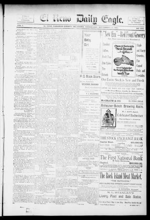 Primary view of object titled 'El Reno Daily Eagle. (El Reno, Okla.), Vol. 1, No. 300, Ed. 1 Wednesday, September 18, 1895'.