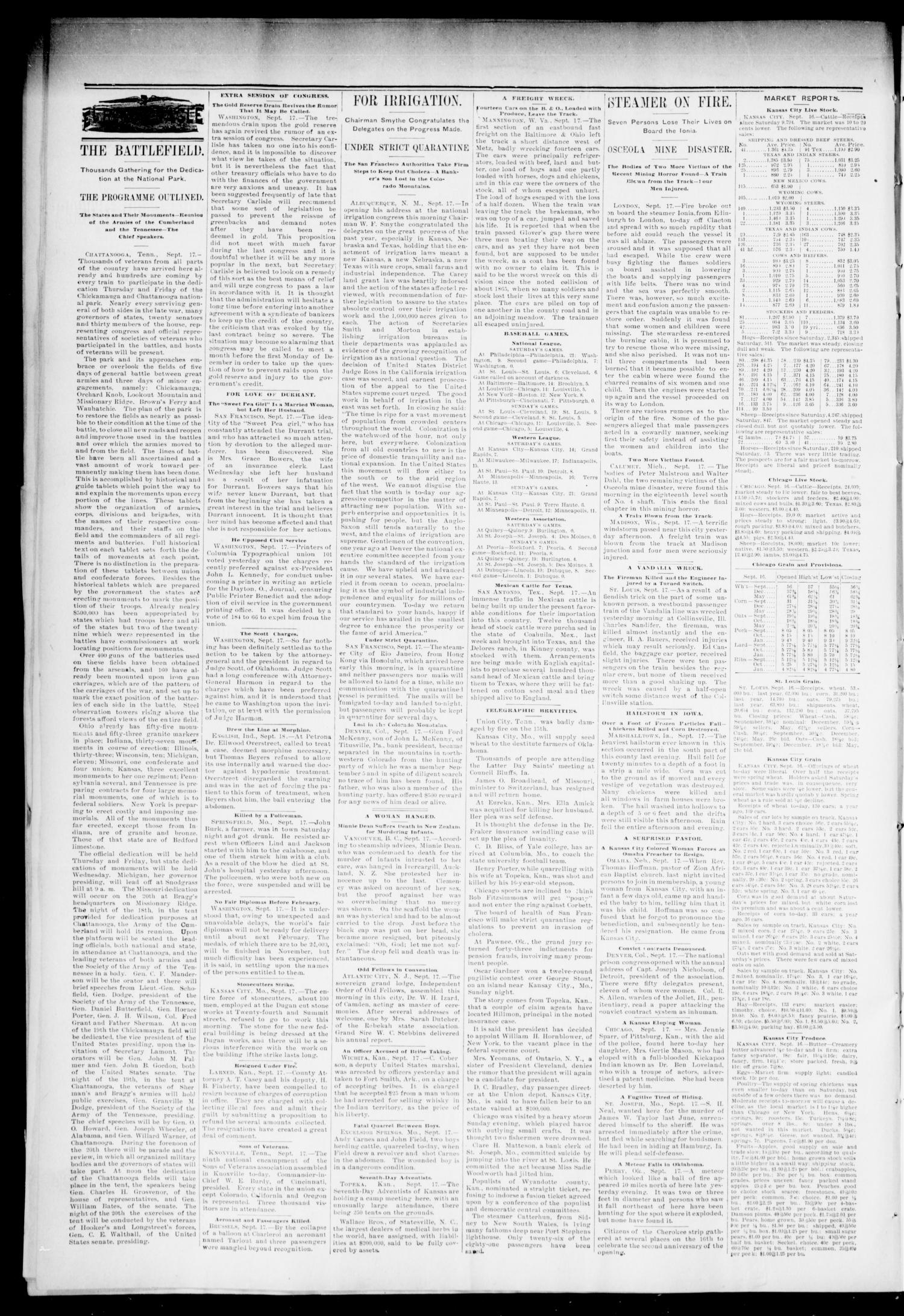 El Reno Daily Eagle. (El Reno, Okla.), Vol. 1, No. 300, Ed. 1 Wednesday, September 18, 1895                                                                                                      [Sequence #]: 2 of 4
