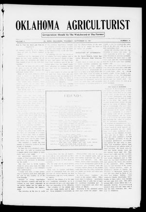 Primary view of object titled 'Oklahoma Agriculturist (El Reno, Okla.), Vol. 2, No. 14, Ed. 1 Thursday, September 26, 1907'.