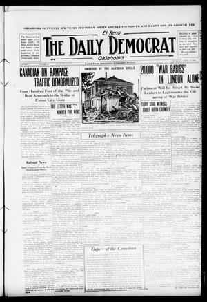 Primary view of El Reno The Daily Democrat Oklahoma (El Reno, Okla.), Vol. 25, No. 38, Ed. 1 Thursday, April 22, 1915